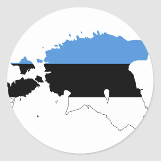Estonia Flag map EE Classic Round Sticker