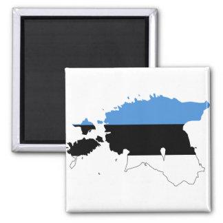 Estonia Flag map EE Magnet