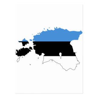 Estonia Flag map EE Postcard
