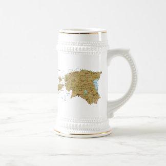 Estonia Flag ~ Map Mug
