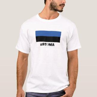 Estonia flag souvenir tshirt