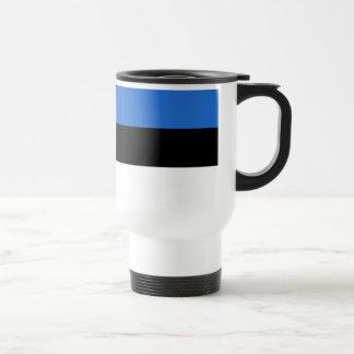 Estonia Flag Stainless Steel Travel Mug