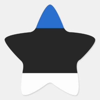 Estonia Flag Star Sticker