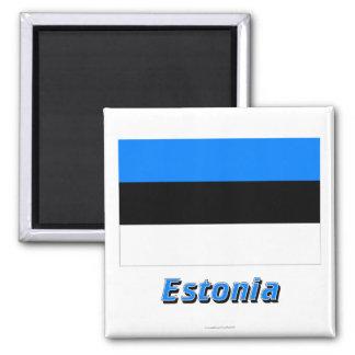 Estonia Flag with Name Magnet