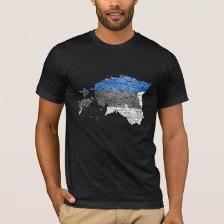 Estonia Flagcolor Map T-Shirt