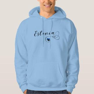 Estonia Heart Hoodie, Estonian Flag Hoodie