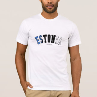 Estonia in national flag colors T-Shirt