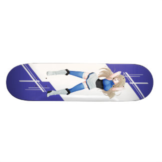 Estonia Manga girl dressed in Flag 21.6 Cm Old School Skateboard Deck