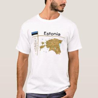 Estonia Map + Flag + Title T-Shirt