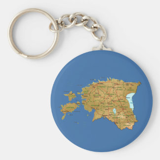 Estonia Map Keychain