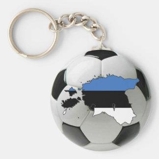 Estonia national team basic round button key ring