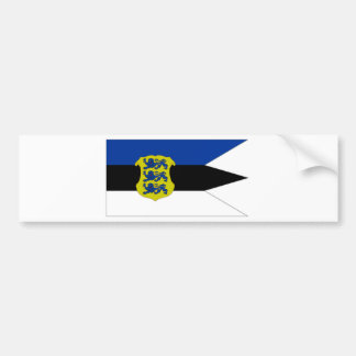 Estonia Naval Ensign Flag Bumper Sticker