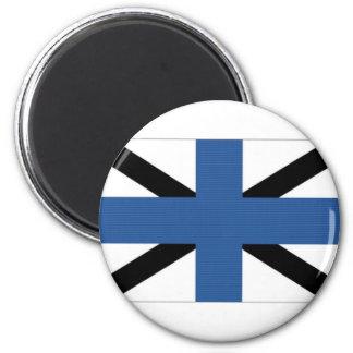 Estonia Naval Jack 6 Cm Round Magnet