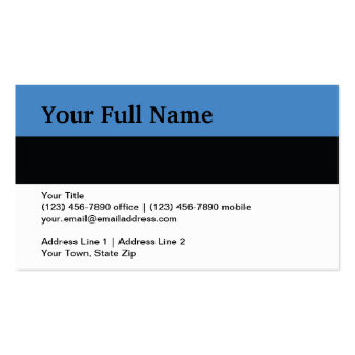 Estonia Plain Flag Pack Of Standard Business Cards