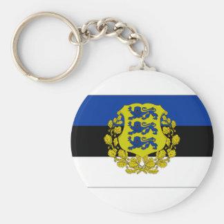 Estonia President Flag Key Chain