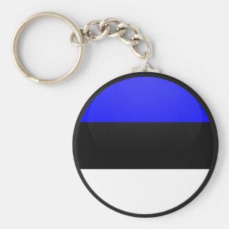 Estonia quality Flag Circle Basic Round Button Key Ring