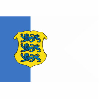 Estonia - Rear Admiral Estonia flag Photo Sculptures