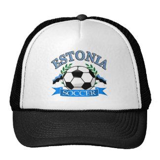 Estonia soccer ball designs hats