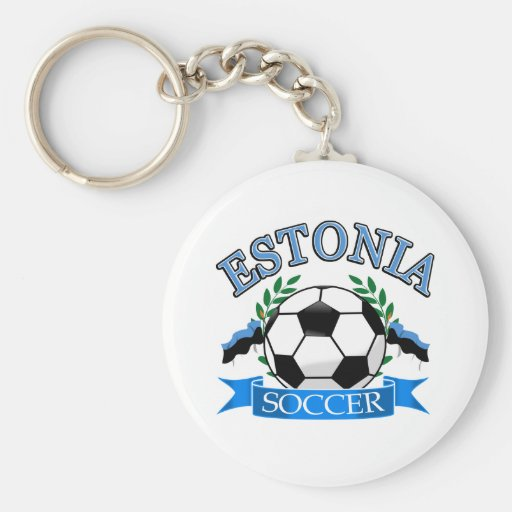 Estonia soccer ball designs keychain