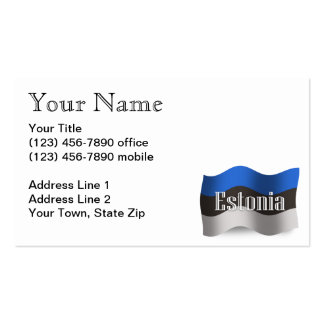 Estonia Waving Flag Pack Of Standard Business Cards