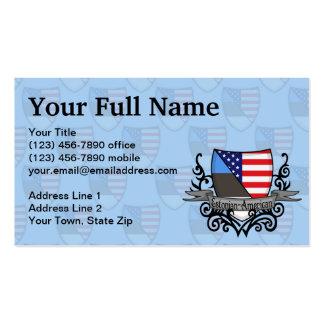 Estonian-American Shield Flag Business Card Template