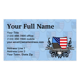 Estonian-American Shield Flag Pack Of Standard Business Cards