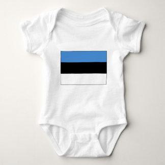 Estonian Flag Baby Bodysuit
