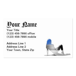 Estonian Girl Silhouette Flag Business Card Templates