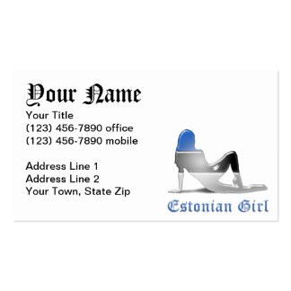 Estonian Girl Silhouette Flag Pack Of Standard Business Cards