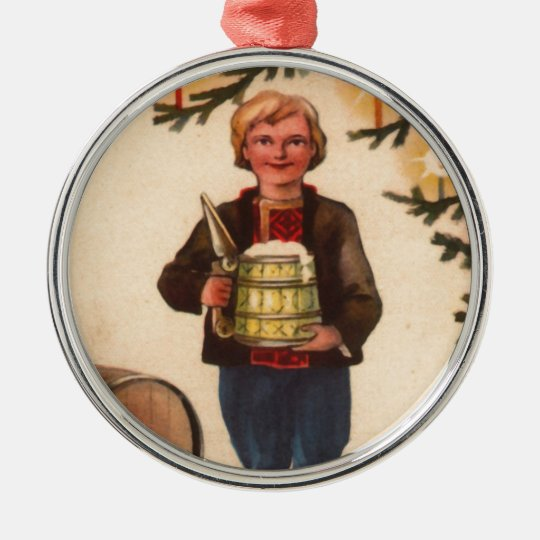 Estonian Man with Beer Christmas Tree Ornament