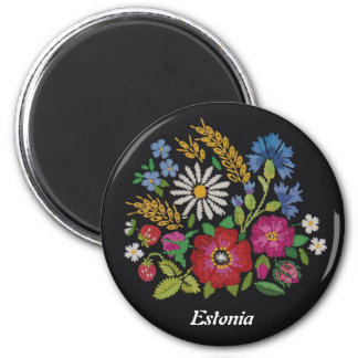 Estonian Wildflower Magnet