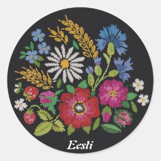 Estonian Wildflower Stickers