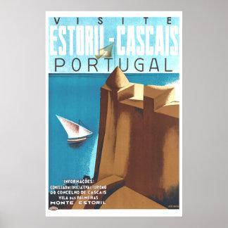 Estoril-Cascais Portugal Vintage Travel Poster
