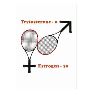Estrogen Tennis Business Card