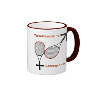 Estrogen Tennis Coffee Mugs