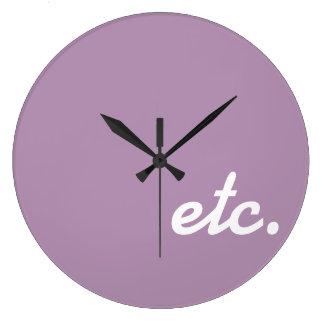 Et Cetera Large Clock