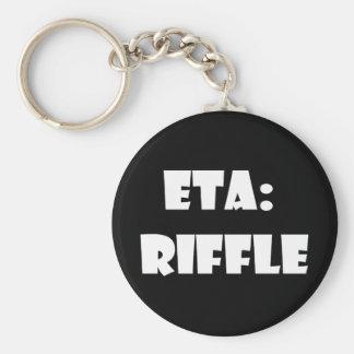ETA: Riffle Basic Round Button Key Ring