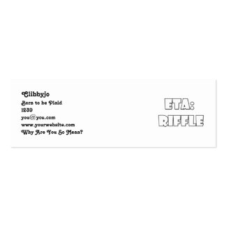 ETA: Riffle Double-Sided Mini Business Cards (Pack Of 20)