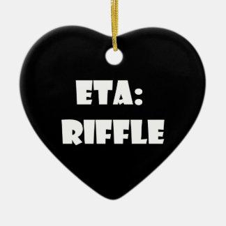 ETA: Riffle Ceramic Heart Decoration