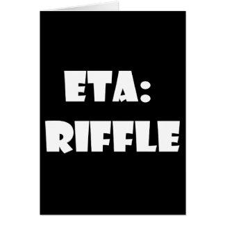 ETA: Riffle Greeting Card