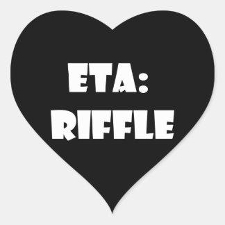 ETA: Riffle Heart Sticker