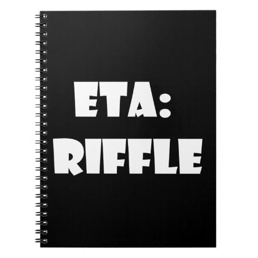 ETA: Riffle Spiral Notebooks