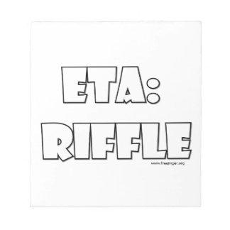 ETA Riffle Memo Pads