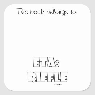 ETA: Riffle Square Sticker