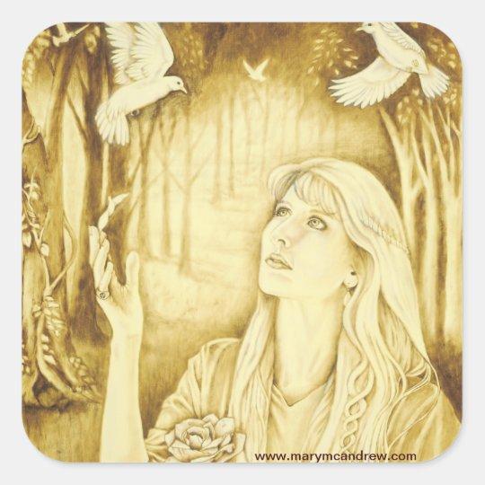 Etain Celtic Goddess stickers