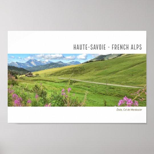Étalé/Col de Merdassier, French Alps Poster