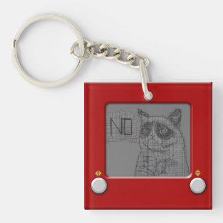 Etch A Grump Single-Sided Square Acrylic Key Ring