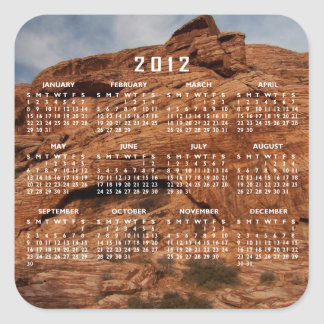 Etched by Time; 2012 Calendar Square Sticker