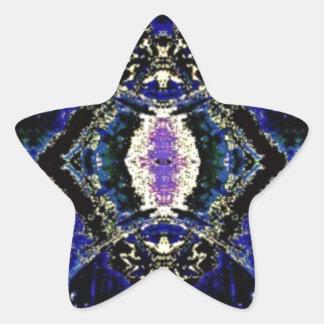 Etched Cobalt Star Sticker