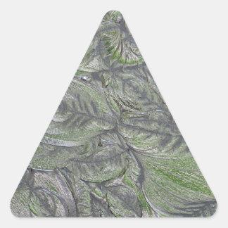 Etched Glass Triangle Sticker